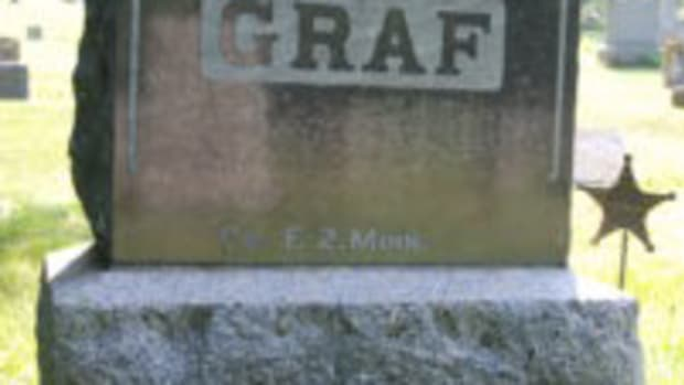 My great-great Uncle Bernhart Graf, Co. F, 2nd Minnesota Infantry buried in Brownsville, Minnesota