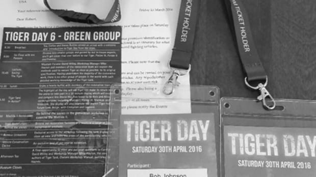 Here they are: The two Tiger Day Premium Ticket Holder Green team identification badges and itinerary – two tickets that would fulfill a life's dream!
