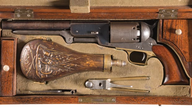 "Extremely Well-Documented, Historic and Iconic Only Known Original Cased Colt Civilian Walker Percussion Revolver, Known as ""The Danish Sea Captain Walker"" - Photo RIAC"