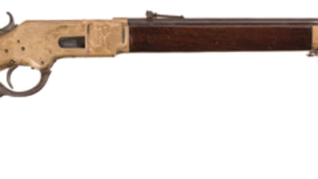 LOT4000-Winchester Model 1866 Lever Action Rifle with Desirable Henry Barrel Markings