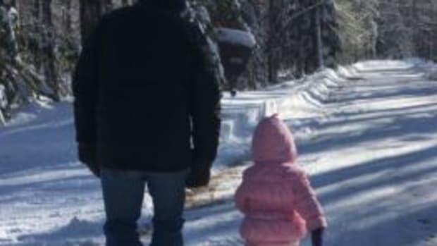 "During a walk in the woods, my granddaughter learned the meaning of ""Saluting the Kaiser."""