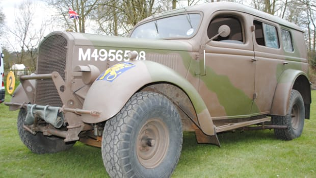 Ford WOA2 Heavy Utility Vehicle restored to its wartime colors and carrying the symbol of the 43rd (Wessex) Reconnaissance Division. It belongs to R.L. Davey, a member of the British Military Vehicle Trust.