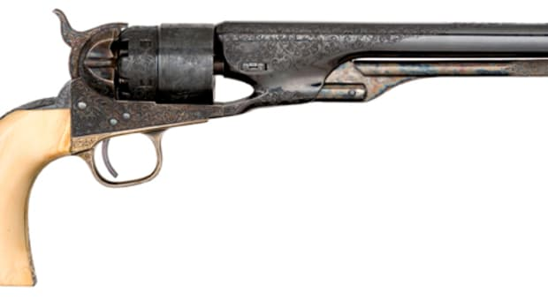 Deluxe Factory Engraved Colt 1860 Army Revolver Presented to General Selden Marvin - sold for $43,375.