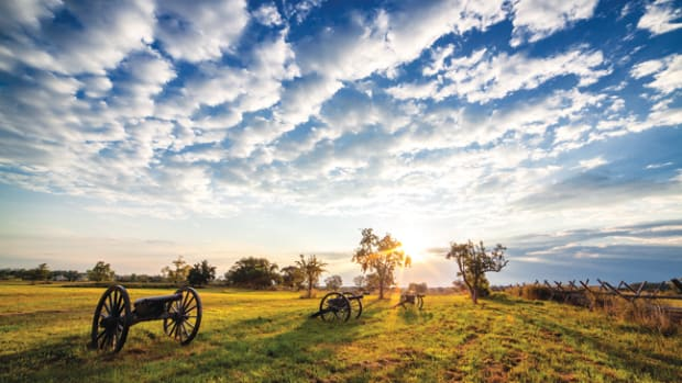 Cannons adorn part of the Opequon (Third Winchester) battlefield in the Shenandoah Valley. Third Winchester is one of nine Civil War sites to be awarded a 2018 grant from the Virginia Battlefield Preservation Fund, the Virginia Department of Historic Resources. BUDDY SECOR