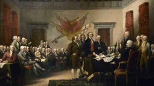 John Trumbull painted the Declaration of Independence. He depicted the presentation of the draft of the Declaration of Independence to Congress. The oil-on-canvas work was commissioned in 1817, purchased in 1819, and placed in the United States Capitol rotunda in 1826.The painting is sometimes incorrectly described as the signing of the Declaration of Independence. The painting shows the five-man drafting committee presenting their draft of the Declaration to the Congress, an event that took place on June 28, 1776, and not the signing of the document, which took place later.