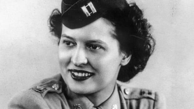 Official Army photo of Stephanie Rader, OSS veteran in wartime. Stephanie Rader received her undergraduate degree from Cornell in 1937. She was a chemistry major in the College of Arts and Sciences. (U.S. Army via Cornell University)