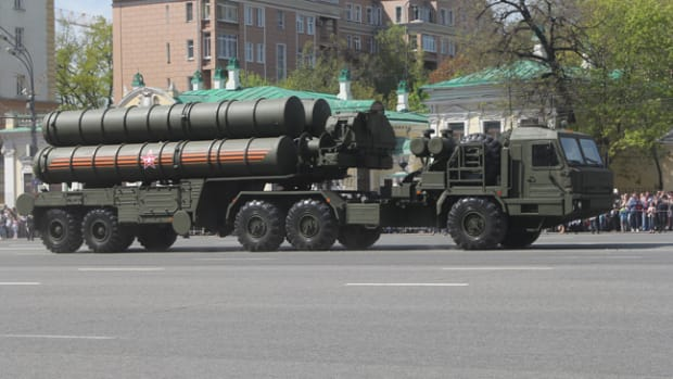 Turkey recently purchased four S-400 Triumf launch vehicle like the one shown here on display in Russia.