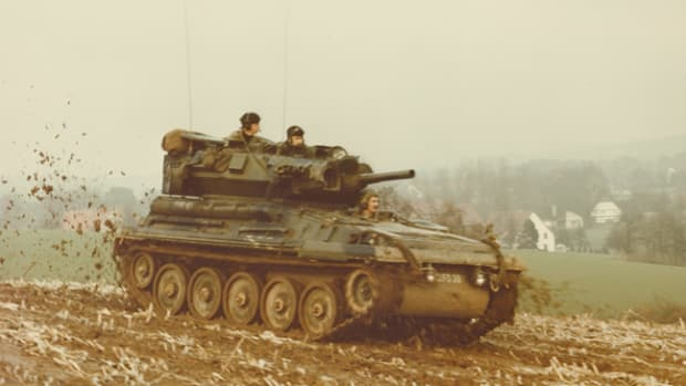 The FV101 Scorpion was designed as a reconnaissance vehicle. It was the lead vehicle and the fire support type in the Combat Vehicle Reconnaissance (Tracked), CVR(T), family of seven armored vehicles.