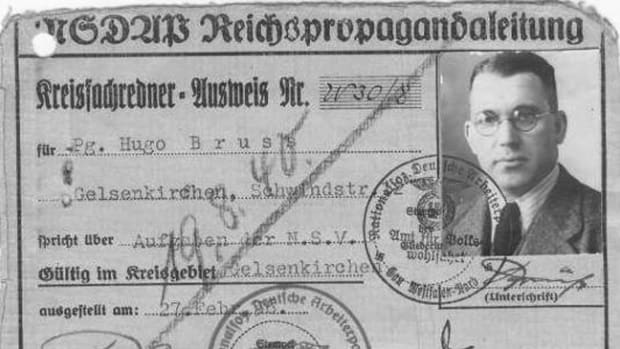 Nazi Party District Spokesman's ID Card (Obverse)