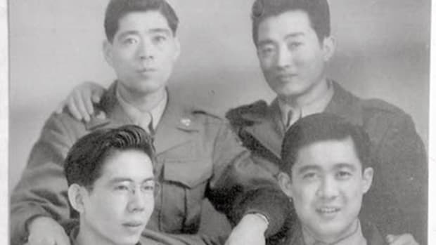 Taira Nakao and fellow soldiers ca. 1943-1945