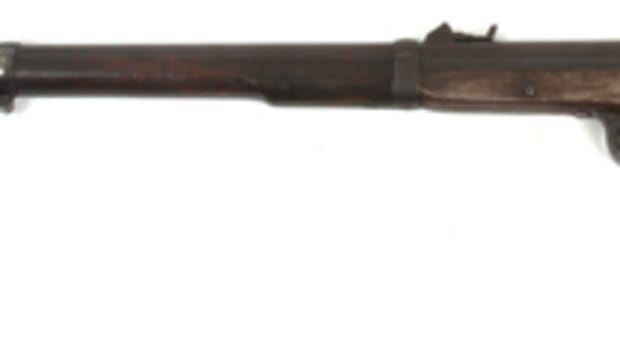 Rare Sharps & Hankins (Philadelphia) model 1861 Navy rifle with 32 ½ inch long round barrel (est. $2,500-$3,500).