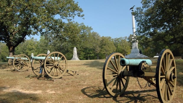 Shiloh National Military Park battlefield bronze Civil War cannon Iowa Memorial monument column eagle