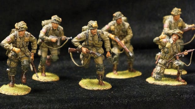 1/30mm WWII US Paratroopers produced by First Legion display well on their own, or for using in a diorama. Photo by Jason Wang, courtesy of TreeFrog Treasures.