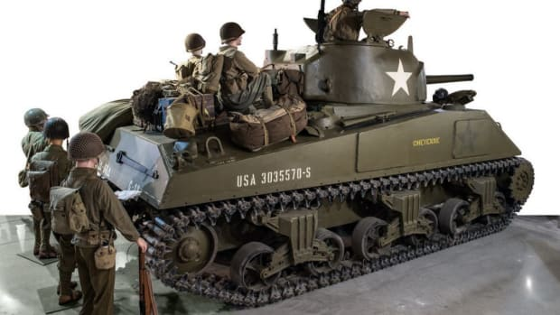 Lot 46, 1944 CHRYSLER M4A4 SHERMAN, sold for $407,680