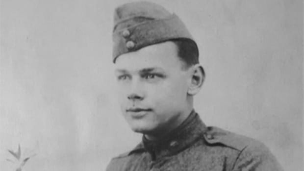 Corporal Leo G. Rauf, 301st Tank Battalion. He died, in action, on September 29, 1918, while manning the 6-lb gun on a Mark V tank. His body was laid to rest in a French cemetery and removed in 1921 to return to the United States for reinterment.
