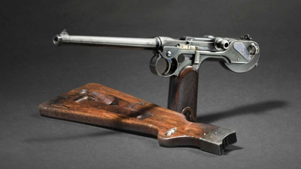 Borchardt C 93, Loewe Berlin, with shoulder stock, circa 1895. Copyright Hermann Historica GmbH 2019