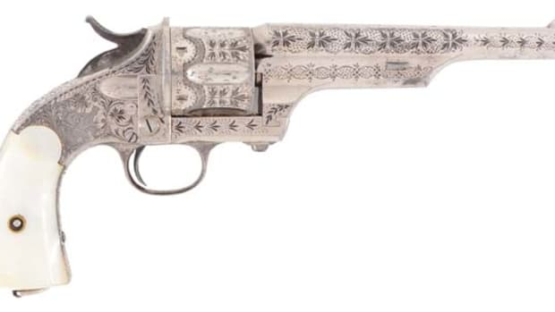 Factory-engraved Merwin & Hulbert 2nd Model open-top .44 single-action cartridge revolver. Photo - Morphy Auctions