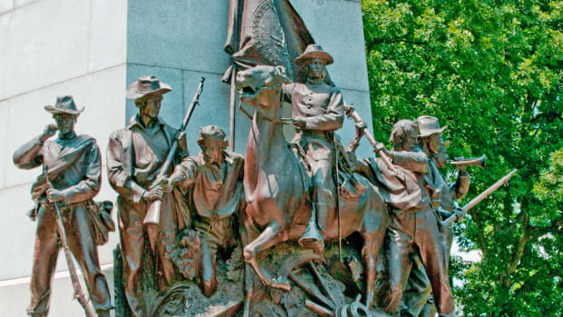 The monument to Virginia at Gettysburg reminds all Americans of the decisive battle that was fought in the Pennsylvania countryside 150 years ago.
