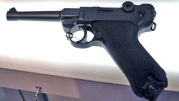 This fine looking Lugar is actually an air pistol and will be available from Umarex USA for about $80.