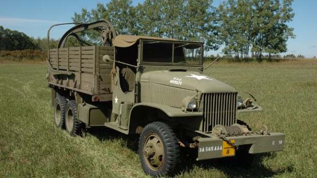 1945 CCKW 2-1/2-ton Cargo Truck with Wrecker Set No. 7 Restored by the Spooner Military Vehicle Preservation Group.