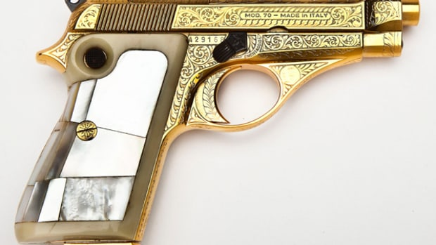 Beretta Engraved/Gold Plated Model 70 (estimate $2,000-$2,500)