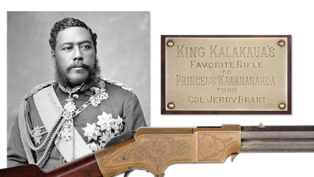 5.Lot #3006, a rare engraved Henry to American Civil War General, Edward McCook, later presented to King Kalakaua of Hawaii and then to Princess Kawananakoa, estimate $150,000-250,000.