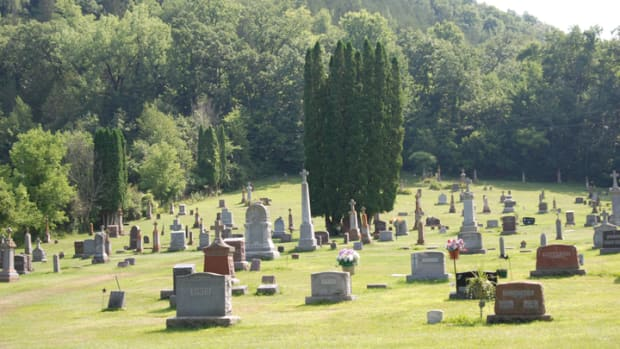 """St. Patrick Cemetery near Brownsville, Minnesota, is dotted with the graves of """"48ers"""" and refugees of the Irish potato famine of 1845-1852. They were some of the first permanent European residents of southeastern Minnesota"""