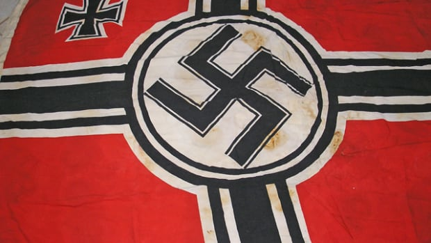 This veteran-acquired Reichs War Flag differs from the two illustrated below in that the bars of the center cross touch the outer ring and there is no space between the circle and the center cross. Is this just an anomaly or would it constitute a third pattern of the Reichs War Flag?