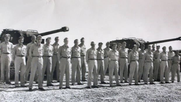 Brown served in the Second Recon. Platoon of the 656th Tank Destroyer Bn.
