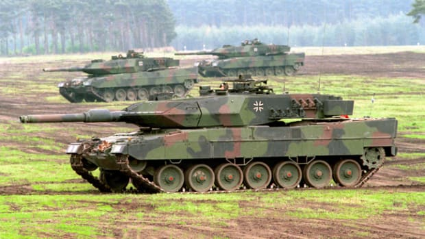 Leopard 2A6, with the new Rheinmetall 120mm L55 gun