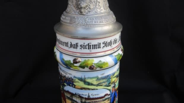 Danner's personalized beer stein commemorated his service as a Reservist.