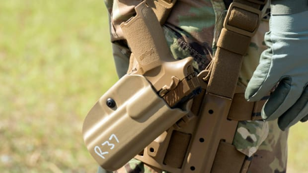 The Army recently began a conditional material release for the Modular Handgun System. It has issued about 2,000 of the pistols to the 101st Airborne Division at Fort Campbell, Kentucky.(U.S. Army photo by Lewis Perkins)