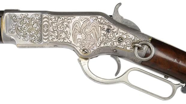 Rare Nimschke Engraved Winchester Model 1866 Saddle Ring Carbine (Stewart Collection) (est. $3,500-12,500), Sold for $31,050