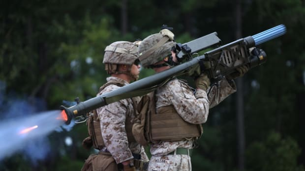 The FIM-92 Stinger is a shoulder-fired Man-Portable Air Defense System (MANPADS) developed by United States in the late 1970s. It was designed by General Dynamics and manufactured by Raytheon Missile Systems. The system is in service from 1981 (second generation) until now (fourth generation). The Stinger is designed to engage fast, low level, ground attack aircraft. The Stinger is also highly lethal against helicopters and transport aircraft.
