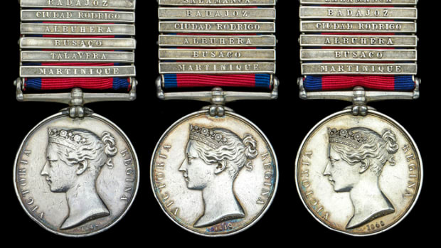 Peninsula War medals awarded to the Hardy brothers of the 7th Fusiliers sold for £47,120.