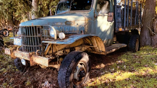 Ray Splinter bought his Dodge WC-43 in 1949. He didn't buy it to restore, but rather, to use it for a work and hunting truck. He has driven the Dodge for more than half a century.