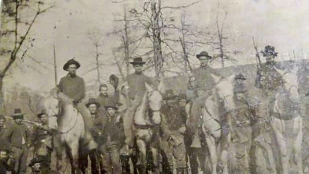 Wilder's Lightning Brigade troops in original CW-era photograph