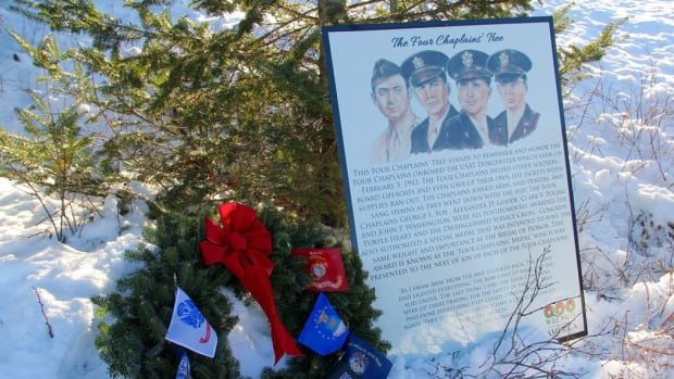 Four Chaplains remembrance on the WAA Tip-land in Maine