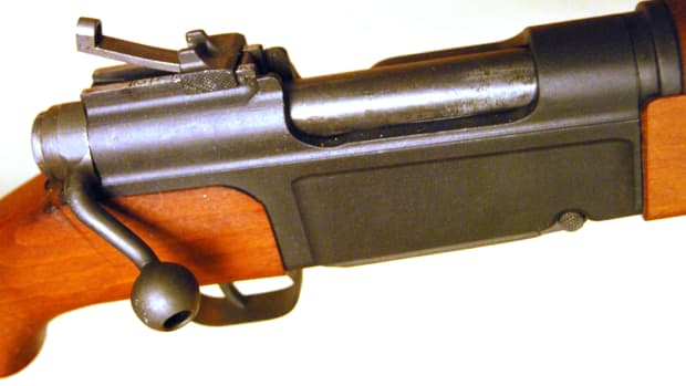 The MAS-36's unique bolt was designed to be as compact as possible. Moving the handle closer to the shooter's firing hand allowed him to cycle the action faster and smoother.