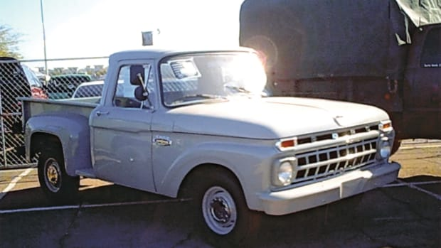 This 1965 short-bed, step-side, half-ton Ford displayed at the Arizona Military Vehicle Collector Show inspired me. It was painted in Navy gray. Apparently not all military vehicles have to be olive drab!