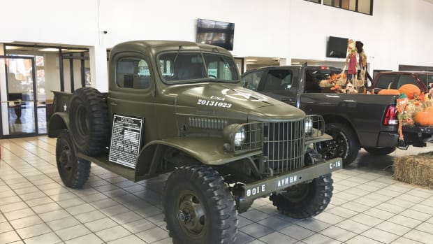 Proud to be a Dodge: On display at the local Dodge dealership for Veterans Day.