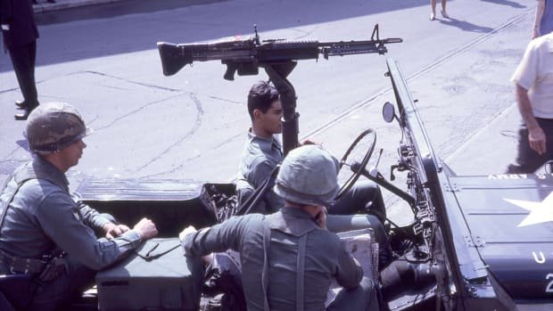 M151 Jeep with an M60 Machine gun, snapshot July 1967