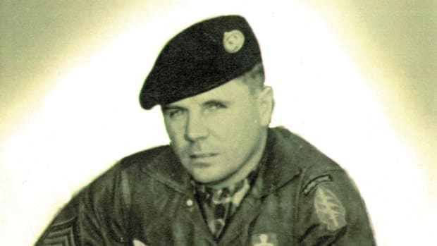 SFC Leanard Guzinski, Sr., circa 1960 when he was a Green Beret in Laos with White Star Mobile Training Team.