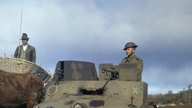 RAF Morris LRC on an airfield in the Azores, January 1944.
