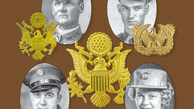 Illustration from cover of United States Army Cap Insignia, 1902-1975, by Michael F. Tucker