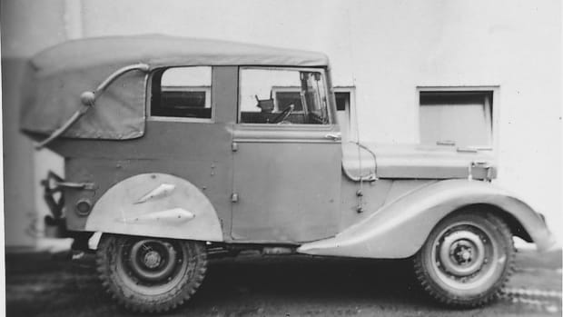 As WWII wound down, it was not uncommon for GIs to spend their spare time hot-rodding their Jeeps. This one was photographed in Berlin in 1946.