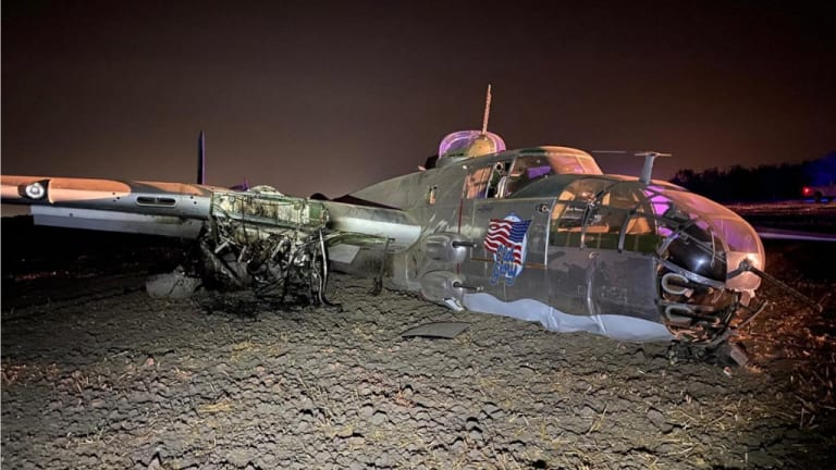 WWII B-25 Warbird Crashes in California