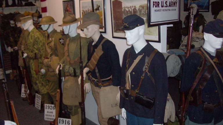 How do collectors display their military collections?