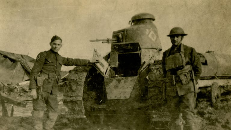 A Veterans Day Memory: WWI Captain Newell Weed gave up his cavalry mount for a tank