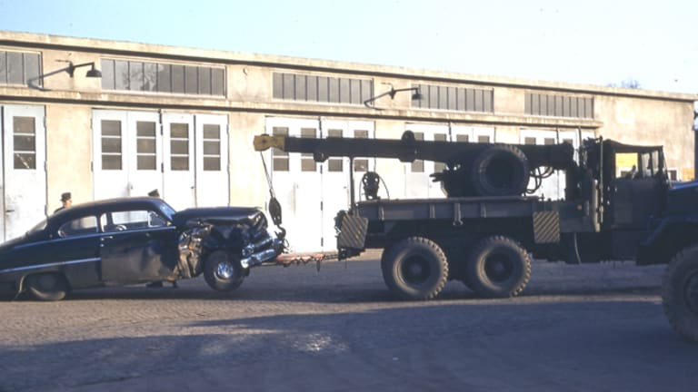 Army Wrecker-Cranes in Action
